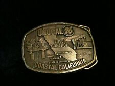 Vintage Unocal Belt Buckle Gas Oil Industry Union 76 California Loss Award