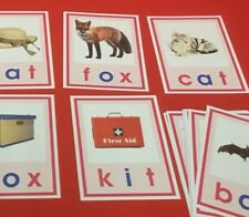 Pink Series Montessori - CVC WORDS & PICTURE CARDS- 52  Laminated Cards