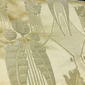 Art Deco Buttercup Satin Floral Pattern Curtain Fabric Material 137cm wide BR173
