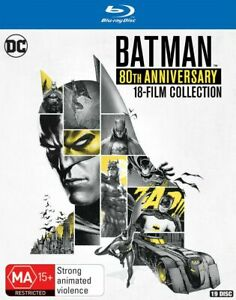 Batman Complete Animated 80th Anniversary 18 Film Collection New Oz Blu Ray Set