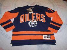 New Edmonton Oilers Classic Old Time Hockey NHL JERSEY SHIRT BOYS M NWT SEWN!