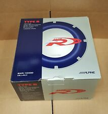 """Alpine SWR-1040D 10"""" Dual 4 Ohm Voice Coil Subwoofer * Brand New in OEM Package"""