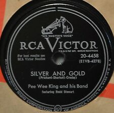 Pee Wee King Silver and Gold Ragtime Annie Lee 78 Western Swing Pop Dance 50s
