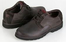New Dunham by New Balance RevDusk Brown Waterproof Leather Lace Up 8.5 2E (EE)