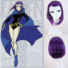 Purple Wig Full Hair Girl's Straight Short Anime Cosplay Wigs for Women