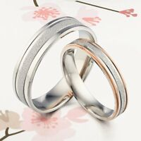 18K Gold Matching Silver His / Her Men Women Wedding Engagement Anniversary Ring