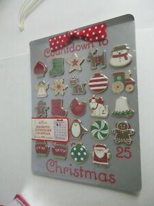 Hallmark Magnetic Countdown Calendar Christmas Keepsake 24 Magnets New