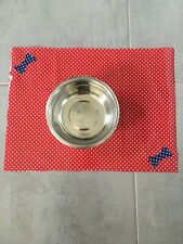 Pet Feeding Mat Dog Puppy Cat Kitten Food Mat Place Dish Mat PVC