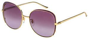 Gucci Sunglasses GG0400S 005 Gold Frame   Multicolor Lens