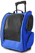 OxGord Pet Carrier Dog Cat Rolling Back Pack Travel Airline Crate Luggage Bag