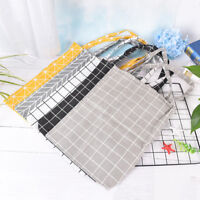 5style canvas check bag tote messenger outdoor cotton shoulder plaid shopping HC