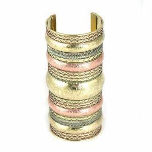 Extra-Long Elephant Cuff: Copper/Brass