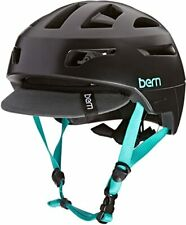 Bern PARKER Mountain Bike Urban MTB Cycle Bike Helmet Satin Black Boa S | M