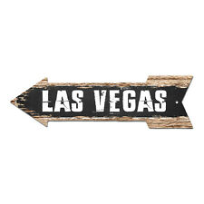 AP-0226 LAS VEGAS Arrow Street Tin Chic Sign Name Sign Home man cave Decor