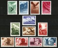 DR Nazi Reich Rare WW2 Stamp Air Glider Atack Hungary Luftwaffe Legion Red Cross