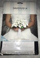 New David Tutera Applique Rhinestone Edge Bouquet Wrap 1 Piece Wedding Bridal
