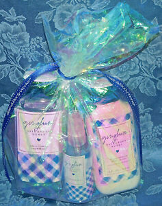 SET OF 3 BATH BODY WORKS GINGHAM SHOWER GEL BODY MIST & LOTION 8 OZ NEW LOT GIFT