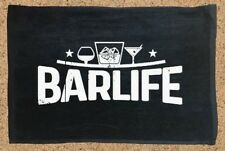 Black, Customized bar towel, Rally Towel, Bartender, Bar, Service Towel