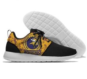 MINNESOTA VIKINGS Men's Women's Lightweight Shoes Sneakers Football Team Logo