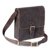 Da Uomo Vera Pelle Crossbody Bag marrone piccolo mobile da viaggio borsa uomo portafoglio chiavi