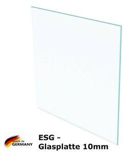 Nach Ma/ß bis 60 x 120 cm Einscheibensicherheitsglas ohne Stempel klar durchsichtig 600 x 1200 mm Glasplatten ESG 10mm Kanten geschliffen und poliert biege- und sto/ßbelastbar. Ecken gesto/ßen