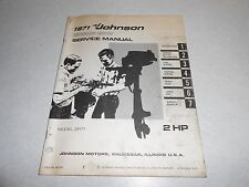1971 2 hp Genuine JOHNSON EVINRUDE Outboard Repair & Service Manual 2hp