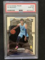 2019-20 Panini Prizm JA MORANT Rookie RC #249 NBA Grizzlies ROY PSA 10 Gem Mint