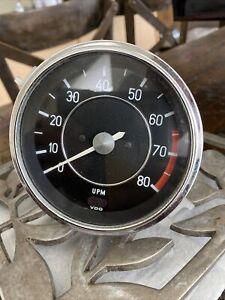 Vw Super Beetle VDO 12v 24000 6ZYL 4 TAKT Tachometer Porsche Volkswagen Vintage