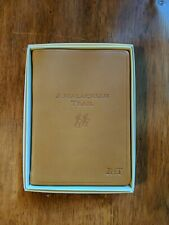 "Appalachian Trail  6"" Leather Softcover Journal&Atlas Tan Orvis Monogrammed JHT"