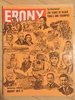 Ebony Aug 1975 200 Years Black Trials Triumphs black political americana rights