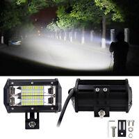 72W Spot Beam LED Work Light Bar Flood Lamp For Offroad SUV Car Boat Truck