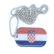 Kroatien Hrvatska Dog Tag Erkennungsmarke Anhänger Kette flag 3x5cm
