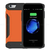 Outdoor Battery External Power bank Charger Case Cover For iPhone 6 6s 7 8 Plus