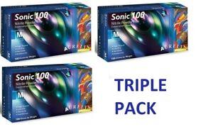 Nitrile Powder Free 3x100Gloves AURELIA Sonic (Tripple Pack)