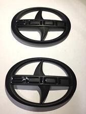 Set of Matte Black Scion FR-S Badge Emblem For Toyota 86 2013 ~ 2016