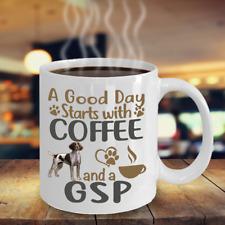 Coffee With Gsp Dog Mug, German Shorthaired Pointer -Gsp Coffe Mug, Gsp Dog Gift