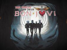 """2010 BON JOVI  """"The Circle"""" KID ROCK Concert Tour (LG) T-Shirt"""