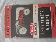 Original Ford Tractor Model 8N Operators Manual 1952 Good Condition