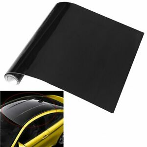 Glamor Cars Vinyl Film Smooth Blackout Exterior Roof Hood Sticker Decor 1.51Mx4M
