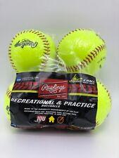 Rawlings Recreational & Practice Softballs 10u 4 Pack