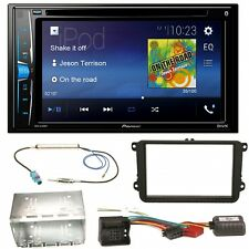 Pioneer AVH-A200BT USB MP3 Bluetooth CD Einbauset für Beetle Jetta Sharan Tiguan
