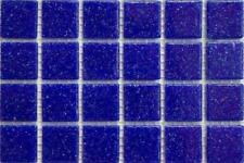 225 mat bleu foncé vitrifiée verre mosaïque 20mm Tuiles A20