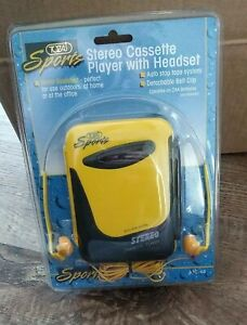 Sports Tozaj Stereo Cassette Player With Headset Yellow Sealed Model ATC-63