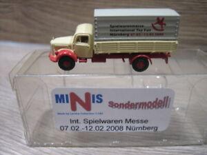 Minis/Lemke 1:160 N LKW MB L3500 Sodermodell Int. Spielwarenmesse Nürnberg OVP