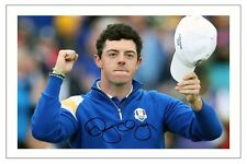 Rory McILROY Europa 2014 Ryder Cup firmato foto stampa GOLF Autograph