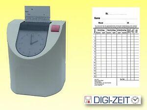 Stempelkarten 106x180mm für Stempeluhr PERFECT 2005   je Pack 100 Stück
