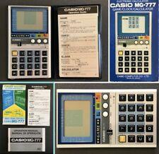 Vintage Casio Computer Calculator 1984 LCD Game & Watch MG-777 Boxed & Working