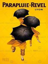 ADVERT UMBRELLA WIND RAIN WEATHER REVEL LYON FRANCE ART PRINT POSTERBB8047B
