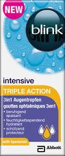 Blink Intensive TRIPLE ACTION 3in1 Augentropfen 10ML Nachbenetzung von AMO