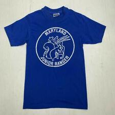 Vintage 80s 90s Maryland Junior Ranger Short Sleeve Blue T Shirt Adult Size S